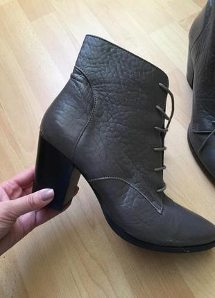 Кожаные сапоги ботинки asos