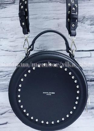 Круглый клатч, сумка через плечо david jones 3585 черная