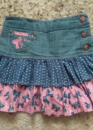 Стильная джинсовая юбочка