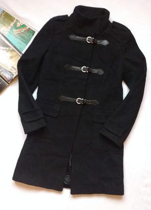 """Строгое шерстяное пальто с ремешками - застёжками """"sinequanone"""""""