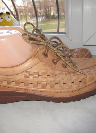 Кожаные туфли -мокасины ecco 40 р