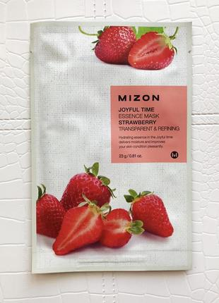 Тканевая маска mizon joyful time essence strawberry mask