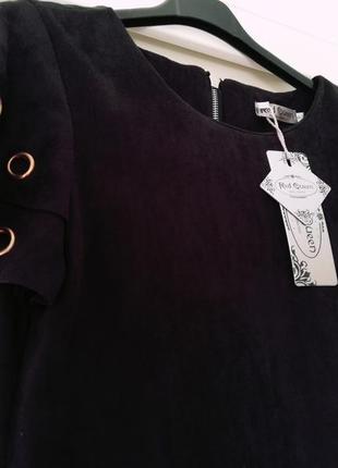 Стильнейшее платье под замш italia2 фото