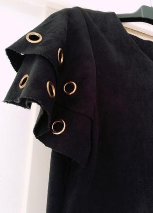 Стильнейшее платье под замш italia3 фото