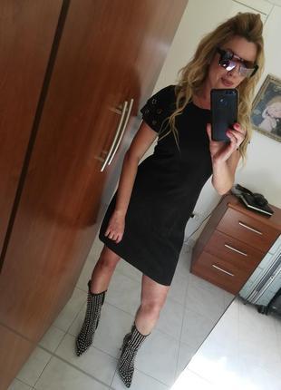 Стильнейшее платье под замш italia4 фото