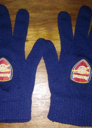 Вязаные перчатки fc arsenal london