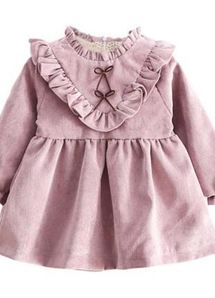 Платье вильвет от 3 мес до 3лет