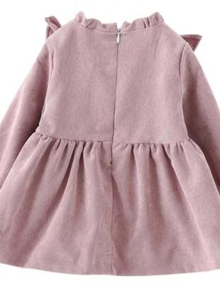 Платье вильвет от 3 мес до 3лет4 фото