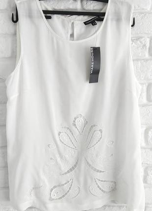 Белый топ блуза warehouse размер 2xl