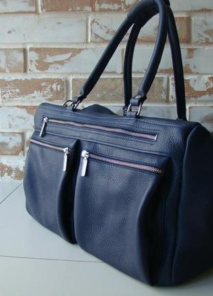 Стильная дорожная кожаная сумка/ спортивная сумка / также возможен инд пошив