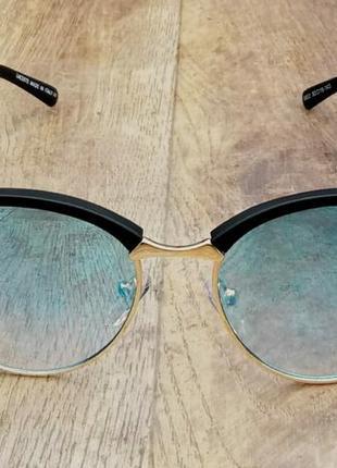 Lacoste очки женские солнцезащитные зеркальные голубые на небольшое лицо