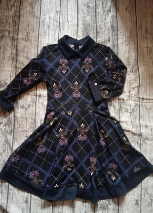 Платье с воротником1 фото