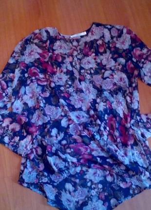 Крутая блуза цветочный принт