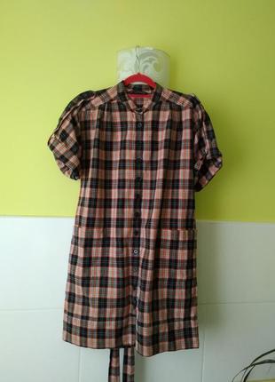 Платье рубашка в клетку от french connection