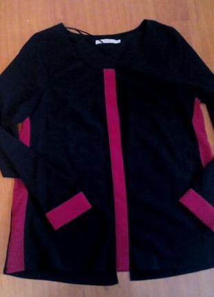 Крутая блуза с вырезом на спинке