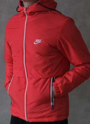 Шикарная мужская куртка ветровка nike красная