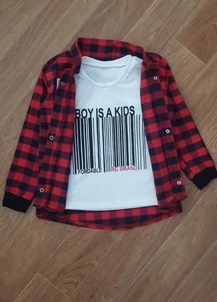 Сорочка + футболка набор