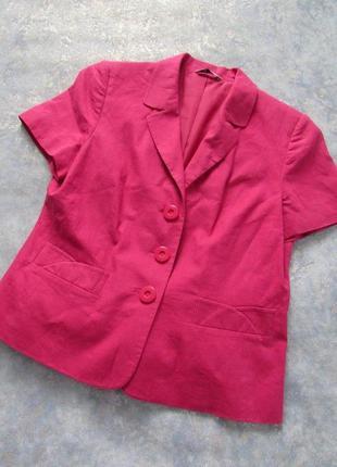 Яркий льяной пиджак жакет от bhs  р.16 2xl. лучшая цена!