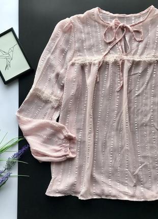 Шикарная розрвая свободная кружевная блузка с кружевом / кружевная блуза
