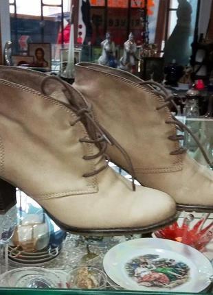Кожаные сапоги ботинки ботильоны 39 размер