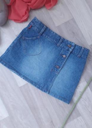 Актуальная джинсовая фирменная  юбка р 38