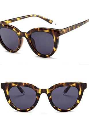 Очки женские солнцезащитные леопардовая оправа