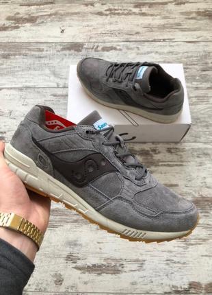 Шикарные мужские кроссовки saucony grey
