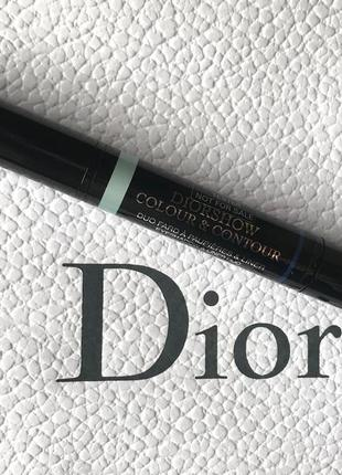 Водостойкие тени и подводка dior colour contour eyeshadow & liner duo 220