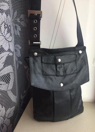 Мужская кожаная сумка h&m