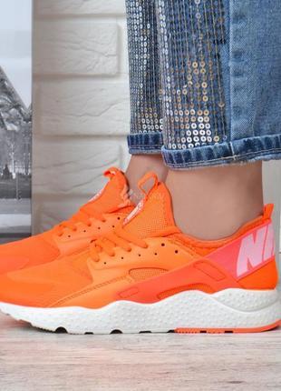 Кроссовки женские nike air huarache ultra living coral оранжевые с белым2 фото
