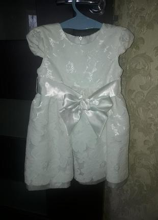 Новое платье из плотного гипюра. смотрите по замерам