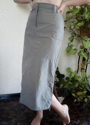 Спортивная длинная юбка