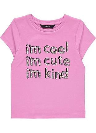 Яскрава футболка для дівчинки  на 3-4 р. та 5-6 р.  george