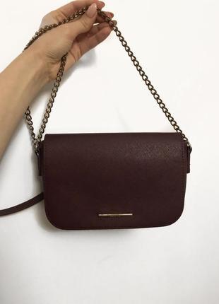 🌸 бордовая сумочка bershka 🌸