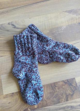 Мальчик вязание носки