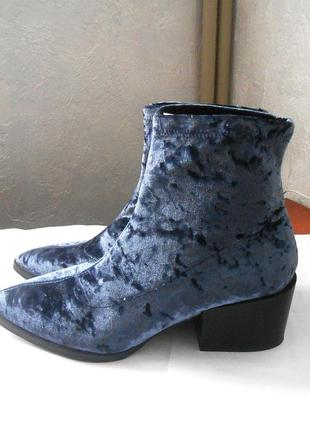 Велюровые ботинки ботильоны asos, р.42 код f4208