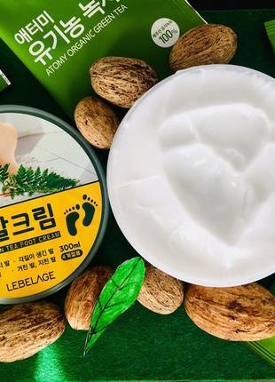 Пом'якшувальний крем для ніг з зеленим чаєм lebelage green tea foot cream
