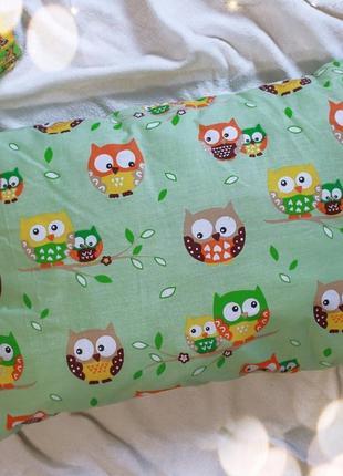 Бортики в детскую кроватку на 3 стороны. защита в детскую кроватку совушки