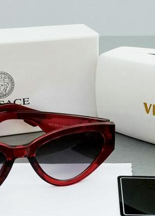 Versace очки женские солнцезащитные красные