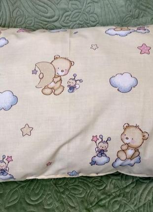 Бортики в детскую кроватку на 3 стороны мишки. защита в детскую кроватку