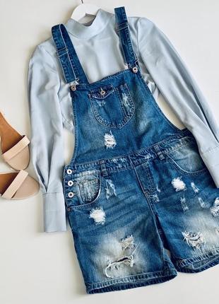 Стильный джинсовый комбинезон only
