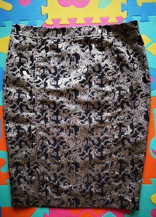 Парча! стильная красивая нарядная юбка карандаш.