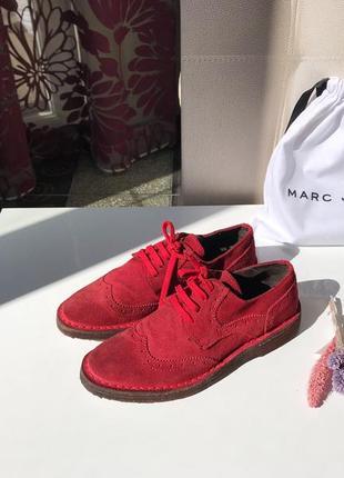 Доставка в подарок, замшевые итальянские броги, туфли на шнуровке, натуральная замша4 фото