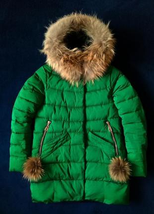 Женский пуховик, зимняя курточка ф. fine baby cat, размер s, состояние отличное 5+