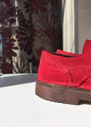 Доставка в подарок, замшевые итальянские броги, туфли на шнуровке, натуральная замша5 фото