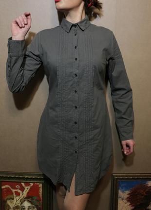 Удлиненная рубашка, блузка, туника