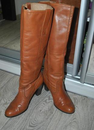 Сапоги vagabond коричневые рыжие кожаные кретые женственные брендовые