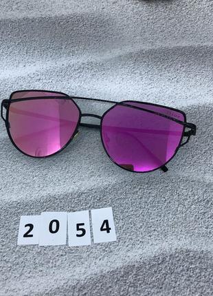 Солнцезащитные очки , цвет линз розовый  к. 2054