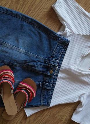 Джинсовая юбка с оригинальным низом от tu