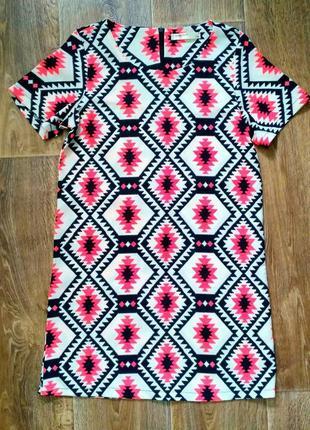 Платье яркое  тренд неон